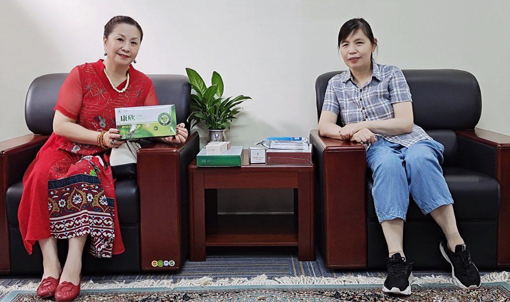 中国知青协会湖北武汉分会王萍会长考察惠尔生物